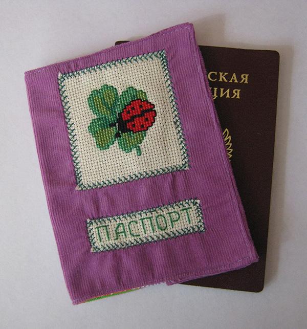 Обложка для паспорта своими руками - фиолетовая