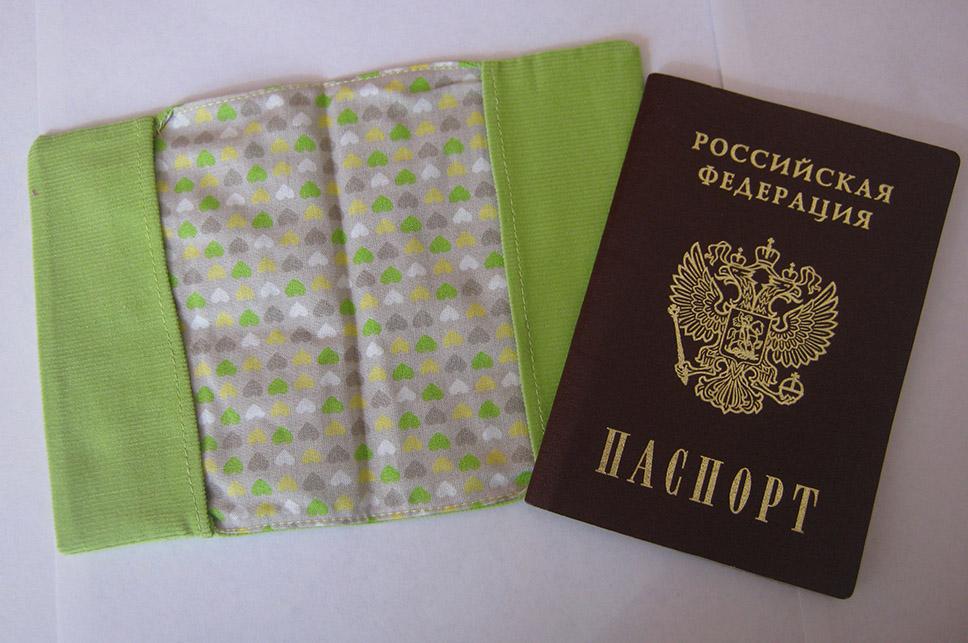 Обложка для паспорта своими руками - салатовая